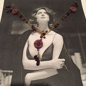 Jewelry - Garnet & Red Jade Lariat necklace. Beautiful!